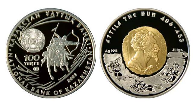 Монета казахстан attila the hun коллекция 10 монет